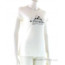 Super Natural Print Tee Damen T-Shirt-Weiss-XS