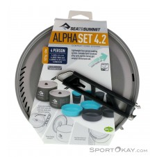 Sea to Summit Alpha Pot Cookset 4.2 Campinggeschirr-Grau-One Size