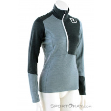Ortovox Fleece Light Zip HZ Damen Tourensweater-Grau-M