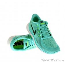 Nike Free 5.0 Damen Laufschuhe-Blau-5,5