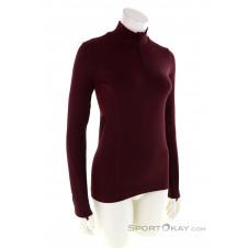 Salomon Comet Seamless Half Zip Damen Sweater-Rot-XS