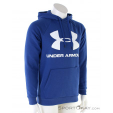 Under Armour Rival Gleece Logo Hoodie Herren Sweater-Blau-S
