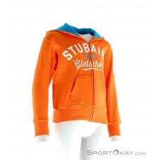 Stubaier Gletscher Hoody Kinder Freizeitsweater-Orange-128