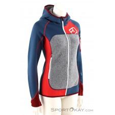 Ortovox Fleece Plus Hoody Damen Tourensweater-Blau-S