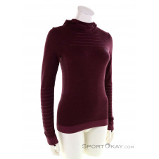 Salomon Outspeed Wool LS Damen Sweater-Rot-XS