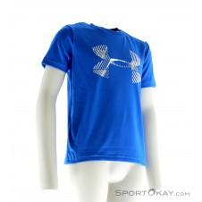 Under Armour Combo Logo SS Jungen Fitnessshirt-Blau-S