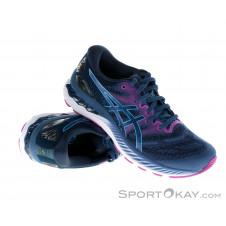 Asics Gel-Nimbus 23 Damen Laufschuhe-Blau-7,5