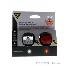 Topeak WhiteLite Race & RedLite Race Combo Leuchten-Set-Mehrfarbig-One Size