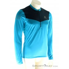 Salomon LS Fast Wing HZ Herren T-Shirt-Blau-S