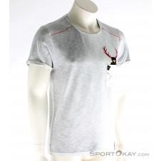 Chillaz Street Hirschkrah Herren T-Shirt-Grau-M