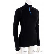 Ortovox 210 Supersoft Zip Neck Damen Shirt-Schwarz-M