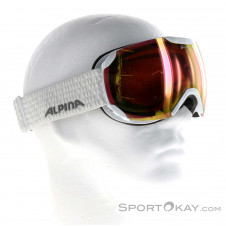 Alpina Pheos S QHM Skibrille-Weiss-One Size