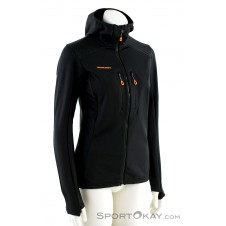 Mammut Eiswand Advanced ML Hooded Damen Outdoorsweater-Schwarz-M