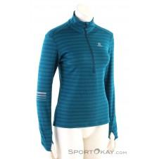Salomon Lightning HZ Mid Damen Funktionsshirt-Blau-S