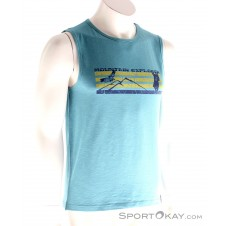 Chillaz Clanques Mountain Patrol Tank Herren T-Shirt-Blau-S