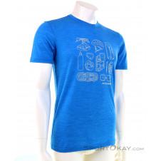 Ortovox 120 Cool Tec Puzzle Herren T-Shirt-Blau-S