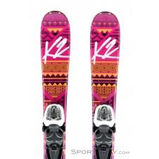 K2 Luv Bug + Fastrack 2 4.5 Mädchen Skiset 2017-Pink-Rosa-76