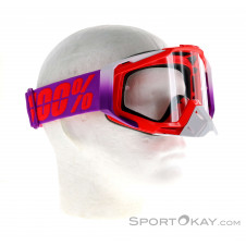 100% Racecraft Anti Fog Clear Lens Downhillbrille-Lila-One Size