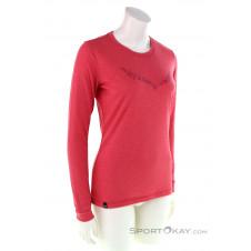 Salewa Solidlogo Dryton LS Damen Funktionsshirt-Pink-Rosa-36