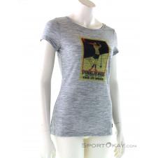Super Natural Digital Print Tee Alpine Retro Damen T-Shirt-Grau-M