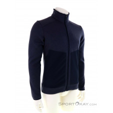 Salomon Snowshelter Fleece Hoodie Herren Sweater-Blau-S
