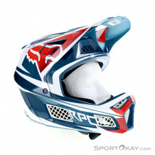 Fox Rampage Pro Carbon Beast Downhill Helm-Blau-M