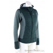 Salomon Right Nice Hybrid Hoodie Damen Sweater-Grün-M