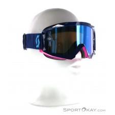 Scott Hustle MX Goggle Downhillbrille-Blau-One Size