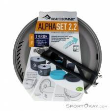 Sea to Summit Alpha Pot Cookset 2.2 Campinggeschirr-Grau-One Size