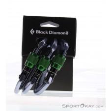 Black Diamond Positron Screwgate 3 Pack Schraubkarabiner-Set-Grün-One Size