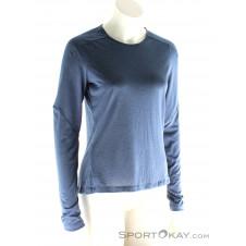 On Long-T Damen T-Shirt-Blau-S
