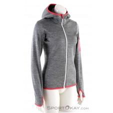 Ortovox Fleece Melange Hoody Damen Tourensweater-Grau-M
