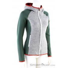 Ortovox Fleece Plus Classic Knit Hoody Damen Fleecejacke-Grün-M