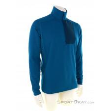 Arcteryx Rho Zip Neck Herren Funktionsshirt-Blau-S