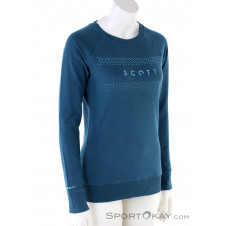 Scott 10 Casual Crewneck Damen Sweater-Blau-S