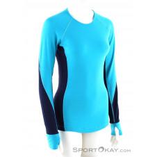 Icebreaker 260 Zone LS Crewe Damen Shirt-Blau-S