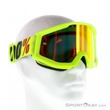 100% Strata Anti Fog Mirror Lens Downhillbrille-Gelb-One Size