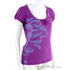 E9 Plume Damen T-Shirt-Lila-S