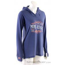 Mons Royale Paige Longline Damen Outdoorsweater-Grau-M