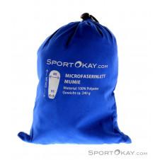 SportOkay.com Microfaserinlett Mumie Camping Schlafsack-Blau-One Size