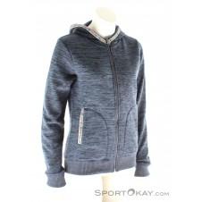 Alprausch Enzian Frau Hooded Jacket Damen Freizeitsweater-Blau-S