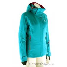 Salomon Brilliant Jacket Damen Skijacke-Türkis-XS