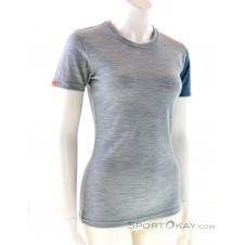 Ortovox 185 Rock'n'Wool Short Sleeve Damen T-Shirt-Grau-M