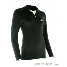 Löffler Transtex Zip-Rolli Basic Damen Laufsweater-Schwarz-36