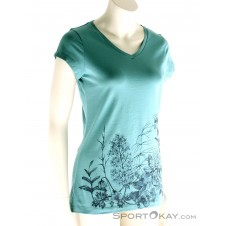Fjällräven Meadow Shirt Damen T-Shirt-Blau-S