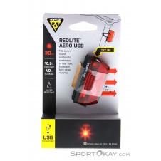 Topeak RedLite Aero USB Heckleuchte-Schwarz-One Size