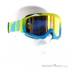Scott Hustle MX Goggle Downhillbrille-Grün-One Size