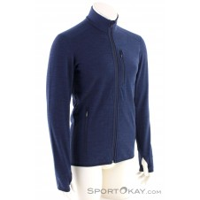 Icebreaker Descender L/S FZ Herren Outdoorsweater-Blau-S