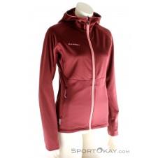 Mammut Get Away ML Fleece Damen Outdoorsweater-Rot-XS