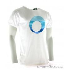 SportOkay.com Stripe Logo Herren Freizeitshirt-Weiss-XL